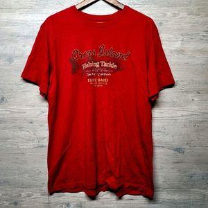 Eddie Bauer Fishing Graphic T Shirt. Brand New!